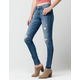 FLYING MONKEY Destructed Fade Womens Skinny Jeans