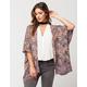 ANGIE Floral Crochet Womens Kimono