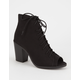 LD Lace Up Peep Toe Womens Booties