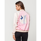TEA & CUP Embroidered Satin Womens Bomber Jacket