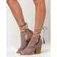 QUPID Peep Toe Wrap Womens Bootles