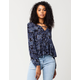 FULL TILT Paisley Keyhole Womens Top