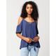 BLU PEPPER Lace Cold Shoulder Womens Top