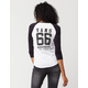 VANS Numbers Up Womens Raglan Tee
