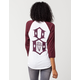 REBEL8 Logo Womens Raglan Tee
