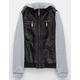 FULL TILT Faux Leather Knit Girls Jacket
