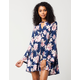 BLU PEPPER Floral Print Dress