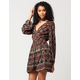 PATRONS OF PEACE Medallion Wrap Dress