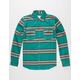 VISITOR Money Stripe Mens Flannel Shirt
