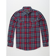 BIRCH BLACK Indigo Plaid Mens Flannel Shirt