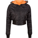 ASHLEY Nylon Fur Hood Womens Jacket