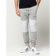 ELWOOD Quilted Paneled Mens Jogger Pants