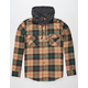 SHOUTHOUSE Cascade Mens Hooded Flannel Shirt