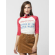 JUNK FOOD Beer Party Womens Raglan Tee