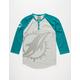 NFL Dolphins Mens Raglan Henley
