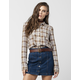 ROXY Driftwood Womens Flannel Shirt