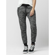 FULL TILT Space Dye Zip Womens Jogger Pants