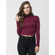 AMBIANCE Mock Neck Womens Top