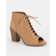 SODA Perforated Womens Heeled Booties