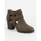 SODA Cut Out Heeled Womens Booties