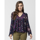 FULL TILT Ruffle Floral Womens Top
