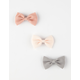 FULL TILT 3 Piece Pastel Bow Hair Clips