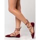 QUPID Lace Up Womens Ghillie Flats