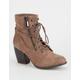 QUPID Side Zip Heeled Combat Boots