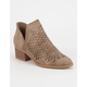 CITY CLASSIFIED Laser Cut Womens Booties