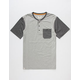 CAPTAIN FIN Cousin Eddie Mens Pocket Henley