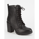 SODA Heeled Womens Combat Boots