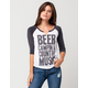 I.O.C. By Icon Country Womens Raglan Tee