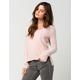 FULL TILT Strappy V-Neck Womens Sweater