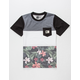 LIRA Floral Band Boys Pocket Tee