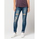 INDIGO REIN Destructed Womens Skinny Jeans