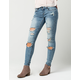 INDIGO REIN Super Destructed Womens Skinny Jeans