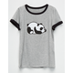 FULL TILT Panda Girls Ringer Tee