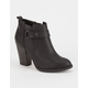 DELICIOUS Strap Heeled Womens Booties
