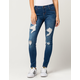 BOOM BOOM JEANS Destructed Womens Skinny Jeans