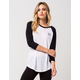YOUNG & RECKLESS Y + R Womens Raglan Tee