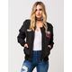 FULL TILT Nylon Patch Womens Bomber Jacket