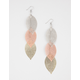 FULL TILT Mixed Metal Leaf Earrings