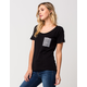 KROCHET KIDS Scallop Womens Pocket Tee