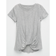 FULL TILT Girls Knot Front Top
