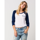 YOUNG & RECKLESS Womens Raglan Tee
