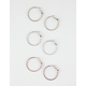 FULL TILT 3 Pairs Mixed Metal Hoop Earrings
