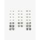 FULL TILT 20 Pairs Rhinestone Earrings