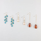 FULL TILT 3 Pairs Facet Bead Earrings