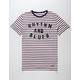RHYTHM Blues Striped Mens T-Shirt