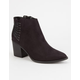 SODA Strappy Grommet Womens Boots